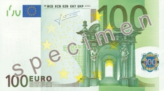 100 Euro banknote from the front