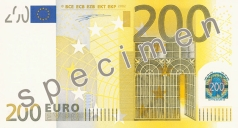 200 Euro banknote from the front