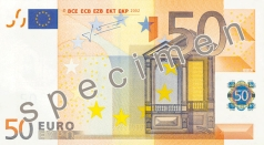 50 Euro banknote from the front