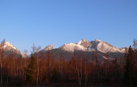 View on the Mountains in Tatranska Lomnica