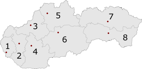 Regions of Slovakia - Higher-Tier Territorial Units